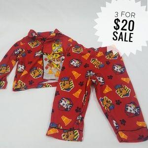 Boys Paw Patrol Pajama Set Size 2T